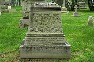 Edward P. Doherty - Edward P. Doherty's tombstone (note the error in the birth year)
