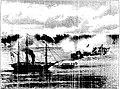Episódios do dia 17 de junho de 1865. Combate Naval de Riachuelo. A canhoneira Araguary, comandada por Hoonholtz, incendiando o vapor Marquez de Olinda.jpg