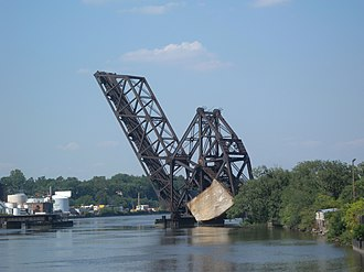Counterweight - Bascule bridge with concrete counterweight