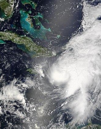 Hurricane Ernesto (2006) - Image: Ernesto 27 aug 2006 1550Z