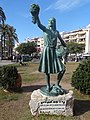 Escultura La noia de la malvasia - Situada a la Fragata (Sitges).JPG