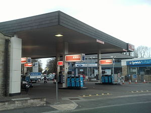 Esso - An Esso service station in Wetherby, West Yorkshire, England (2010)