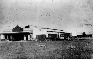 Buenos Aires Central Railway - Chacarita station, 1880s.