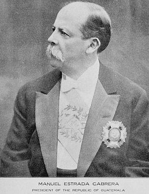 Manuel Estrada Cabrera - Image: Estradacabrera 1916