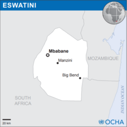 Location of Eswatini
