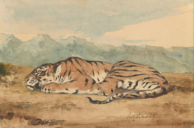 File:Eugène Delacroix - Royal Tiger - Google Art Project.jpg