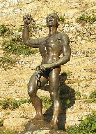 Eunus - A statue of Eunus at Enna, Sicily