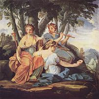 The Muses Clio, Euterpe and Thalia, by Eustach...