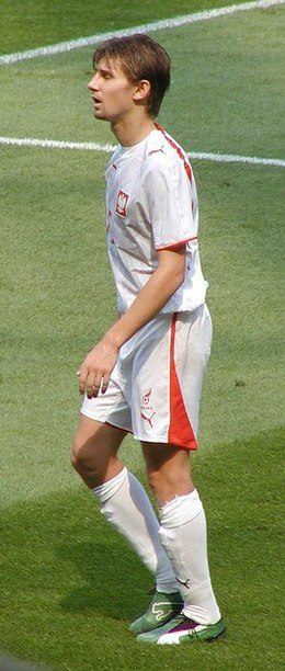 Euzebiusz Smolarek, who scored 9 goals during the qualifying phase. Euzebiusz Smolarek .jpg