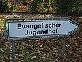 Evangelischer Jugendhof Sachsenhain - Schild.jpg