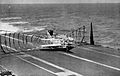 F3H-2 making barrier landing on USS Midway (CVA-41) in 1962.jpg