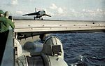 F8U-1 of VF-103 launching from USS Forrestal (CVA-59) c1958.jpg