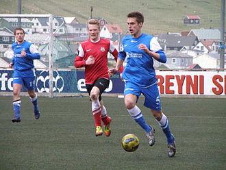 FC Suðuroy - FC Suðuroy vs B68 Toftir in Effodeildin on 21 April 2012.
