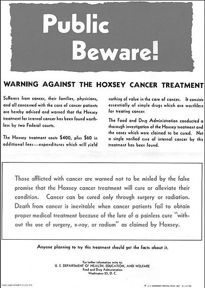 Hoxsey Therapy - Wikipedia