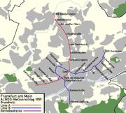 Das nie gebaute Frankfurter Alweg-Netz von 1959