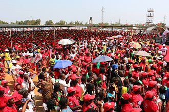 FRELIMO - A section of the crowd at its final campaign rally for the 2014 election.