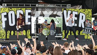 Forever the Sickest Kids - Forever the Sickest Kids performing at Warped Tour 2013 at the Darien Center in Darien, New York on July 6, 2013
