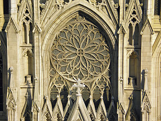 Charles Jay Connick - Exterior of Connick's rose window at St. Patrick's Cathedral, New York