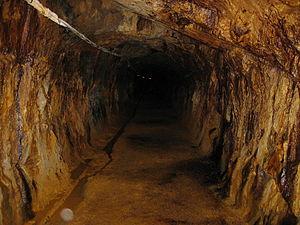 Falun Mine - A drift in Falun mine.