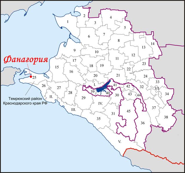 Файл:Fanagoria na karte Krasnodarskogo kraia.png