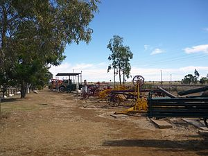 Central West Queensland - Farming equipment along the Landsborough Highway at Ilfracombe, 2011
