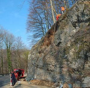 Bundesstraße 465 - Rock fixing between Lenningen and Römerstein (2007)