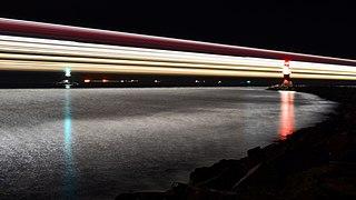 Ferry light trail, Rostock.jpg