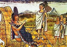 Moctezuma II (illustration du Codex Durán)