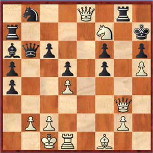 Perfect information - Chess is an example of a game of perfect information.