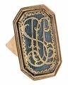 Fingerring av guld med monogram, 1800 - Hallwylska museet - 110221.tif