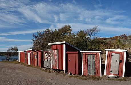 Fishing huts at Holländaröd