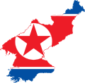 Flag-map of North Korea.svg