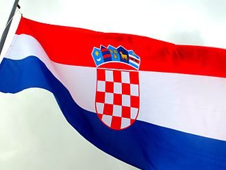 Flag of Croatia - Image: Flag of Croatia in Dubrovnik