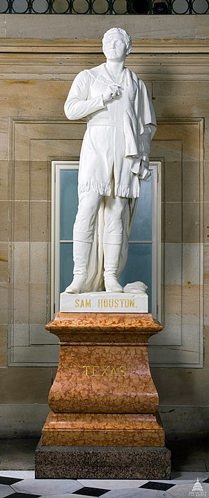 Sam Houston (Ney) - The statue in the National Statuary Hall Collection