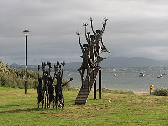 Flight of the Earls - A bronze sculpture commemorating the Flight in Rathmullan, County Donegal