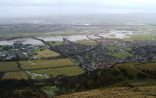 Flooding near Menstrie Jan 2011