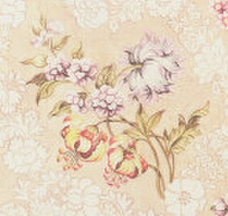 Anna Maria Garthwaite - Detail of a brocaded design of peonies, lilies, and roses, 1744.