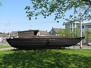 Vietnamese boat people - Escape boat saved by the Cap Anamur in late April 1984, placed in Troisdorf