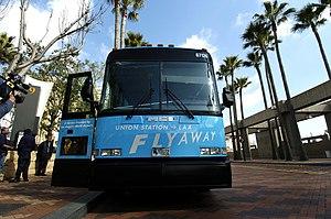 FlyAway (bus) - FlyAway bus at Union Station