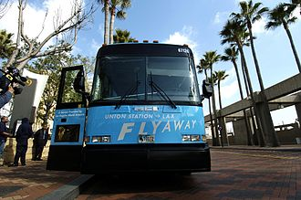 FlyAway (bus) - FlyAway bus at Union Station