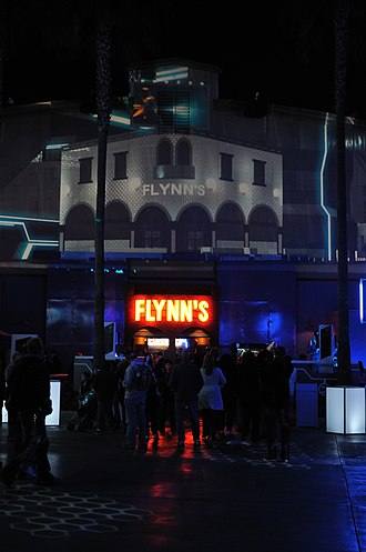 ElecTRONica - Flynn's Arcade, modeled after the fictional arcade from the Tron films