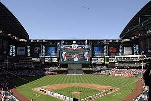Chase field during an Arizona Diamondbacks season opener in 2010.