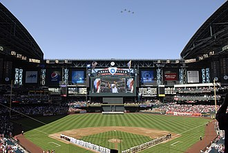 2006 World Baseball Classic - Image: Flyover at Diamondbacks season opener 2010 04 05