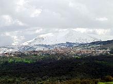 Fonni e il Monte Spada innevato