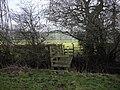 Footbridge across the Nant Brynhill, looking south - geograph.org.uk - 2242286.jpg