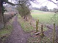 Footpath junction near the River Eden - geograph.org.uk - 1700269.jpg