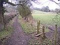 Footpath junction near the River Eden - geograph.org.uk - 1700269.jpg