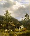 Forest Landscape with a Shepherd Boy and Cattle (Nils Andersson) - Nationalmuseum - 18484.tif