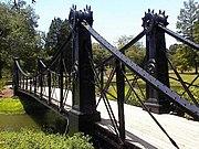 Old footbridge in Forest Park.