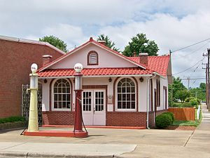 National Register of Historic Places listings in Gaston County, North Carolina - Image: Former Beam's Shell Service Station